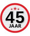 Leeftijd versiering sticker 45 jaar