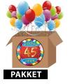 45 jarige feestversiering pakket